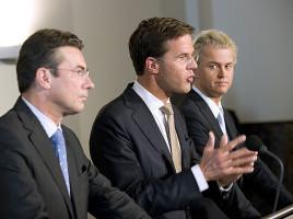 Maxime Verhagen, Mark Rutte & Geert Wilders